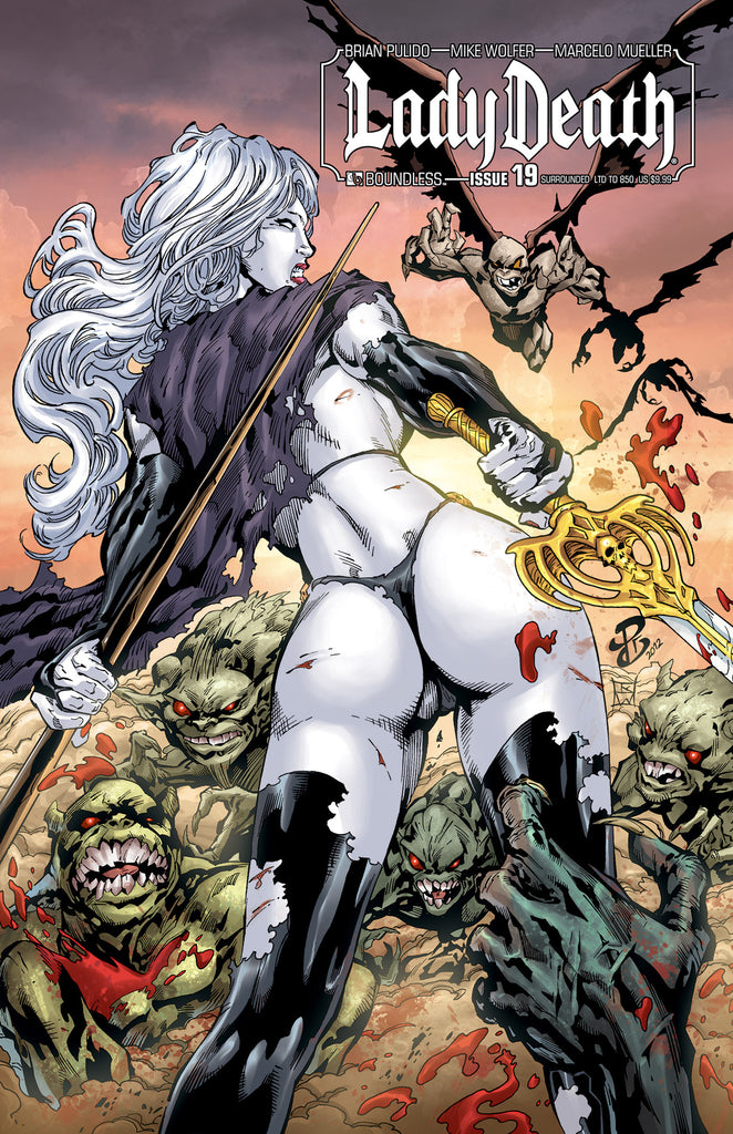 LADY DEATH #19 SURROUNDED COVER