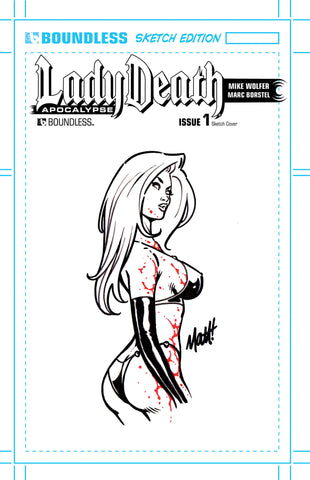LADY DEATH: APOCALYPSE #1 Original Sketch Set (of 10)