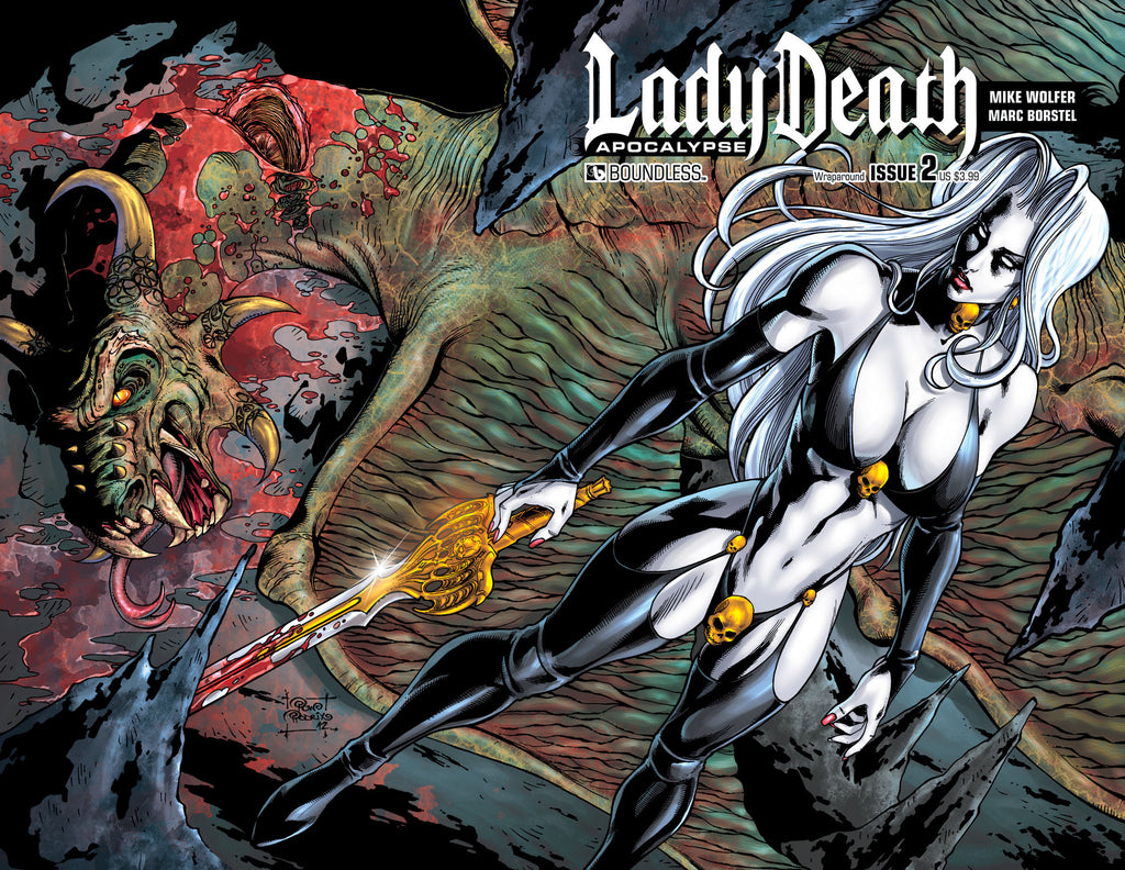 LADY DEATH: APOCALYPSE #2 Wraparound