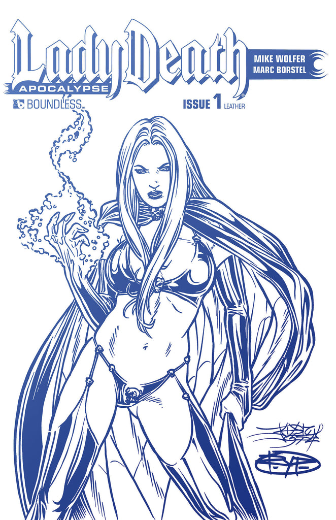 LADY DEATH: APOCALYPSE #1 Kickstarter White Leather