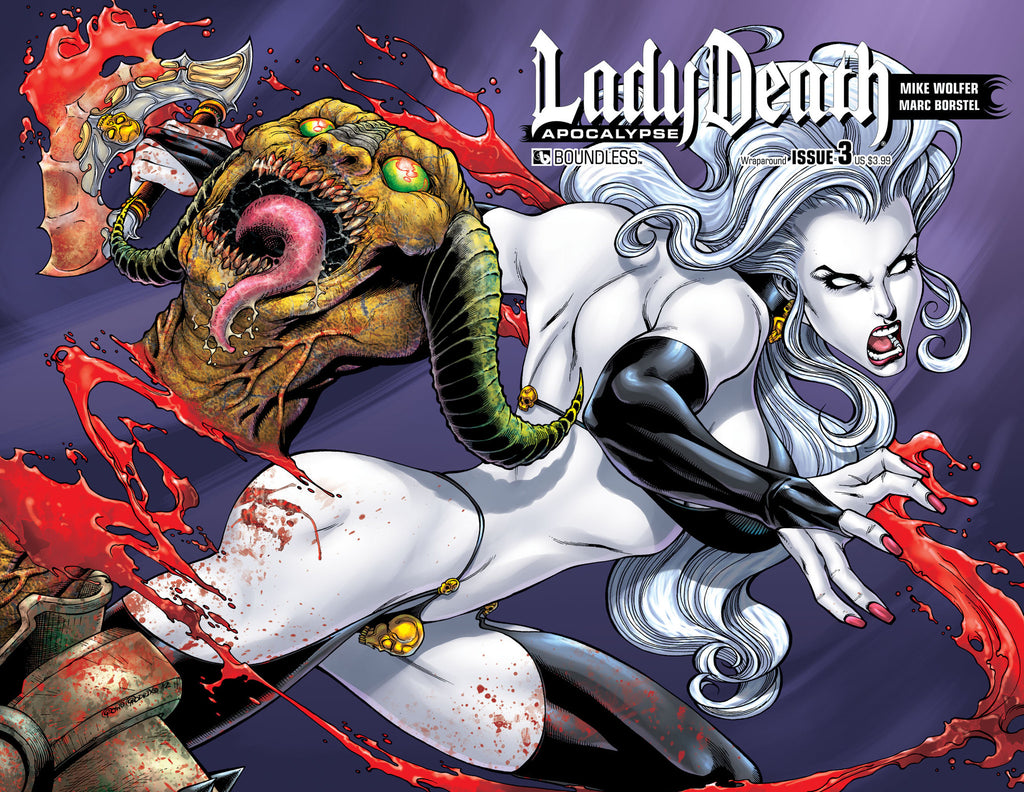 LADY DEATH: APOCALYPSE #3 Wraparound