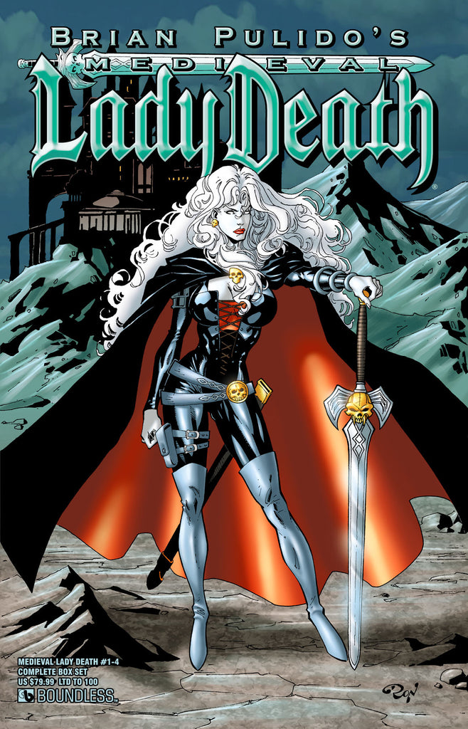 MEDIEVAL LADY DEATH #1-4 COMPLETE BOX SET
