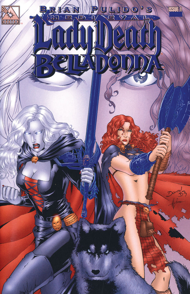 MEDIEVAL LADY DEATH / BELLADONNA #1 Royal Blue