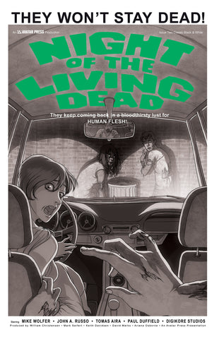 NIGHT OF THE LIVING DEAD #2 Classic B&W order incentive