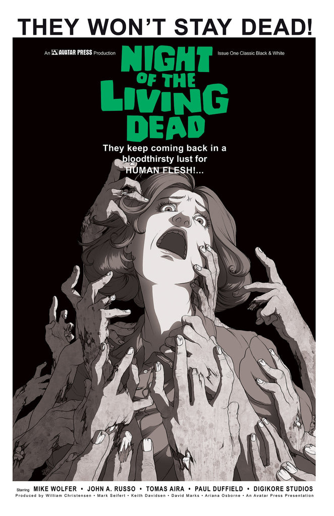 NIGHT OF THE LIVING DEAD #1 Classic B&W order incentive