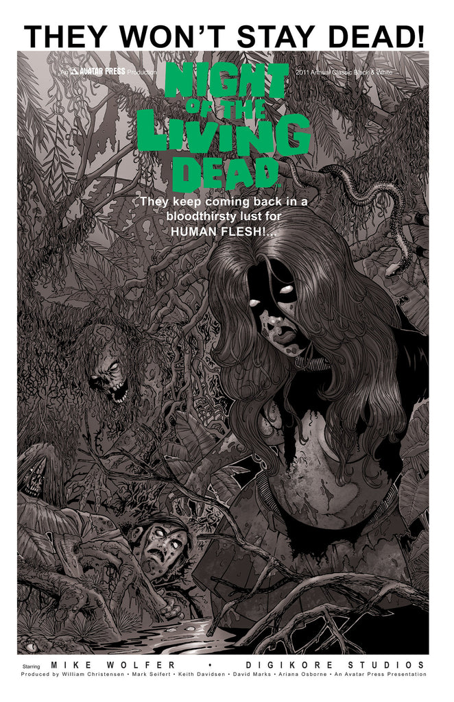 NIGHT OF THE LIVING DEAD 2011 Annual Classic B&W order incentive