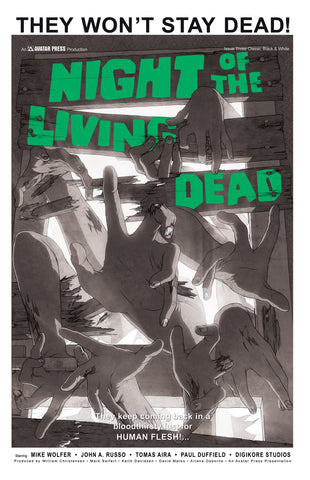 NIGHT OF THE LIVING DEAD #3 Classic B&W order incentive