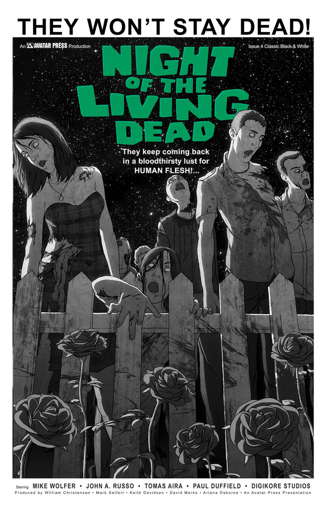 NIGHT OF THE LIVING DEAD #4 Classic B&W order incentive