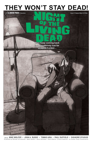 NIGHT OF THE LIVING DEAD #5 Classic B&W order incentive