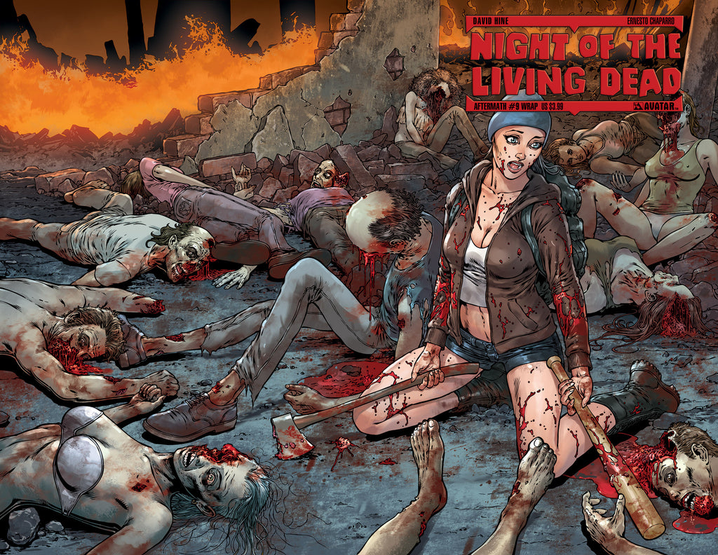 NIGHT OF THE LIVING DEAD: AFTERMATH #9 WRAPAROUND COVER