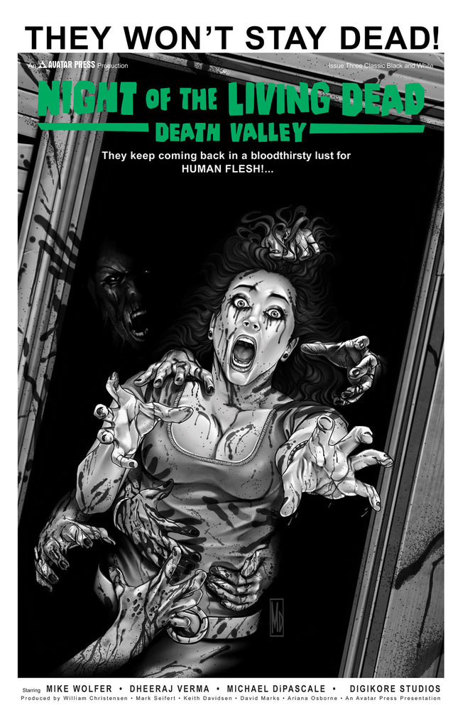 NIGHT OF THE LIVING DEAD: Death Valley #3 Classic B&W order ince