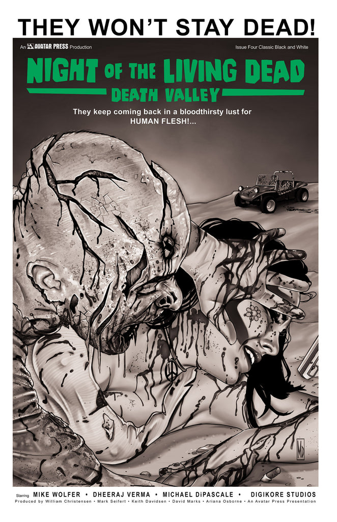 NIGHT OF THE LIVING DEAD: Death Valley #4 Classic B&W order ince