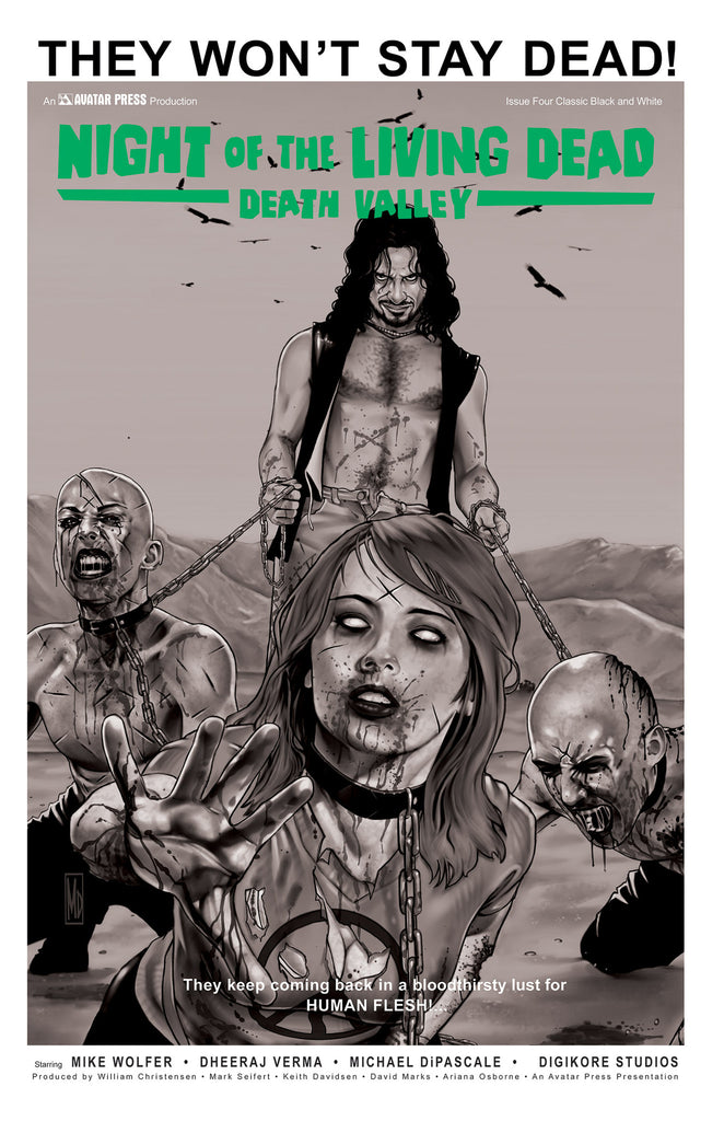 NIGHT OF THE LIVING DEAD: Death Valley #5 Classic B&W order ince