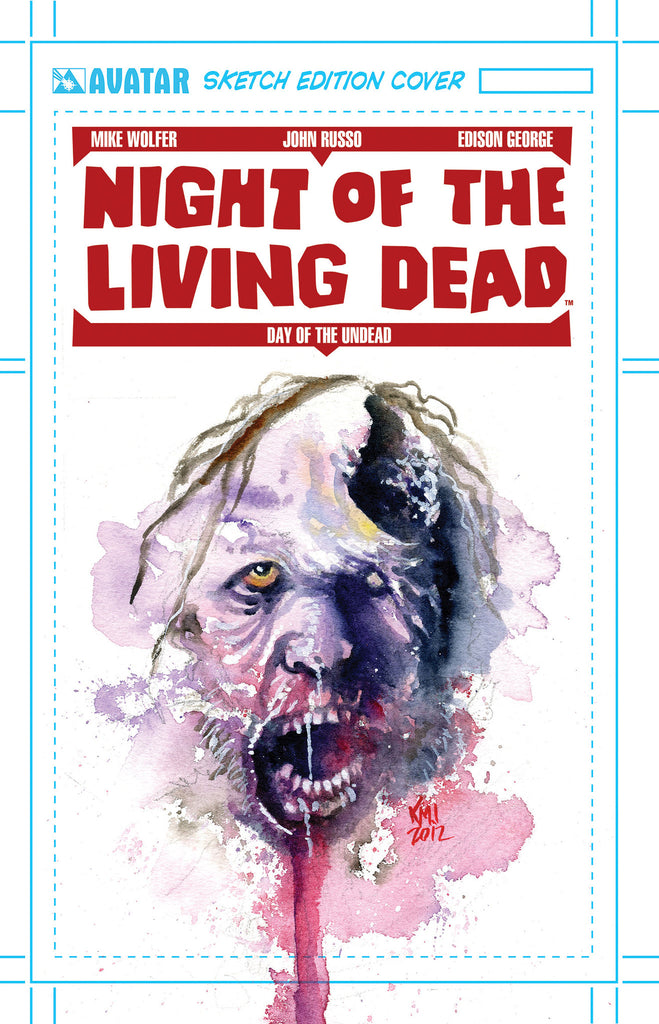 NIGHT OF THE LIVING DEAD: AFTERMATH #1 ORIGINAL PAINTED ART CVR