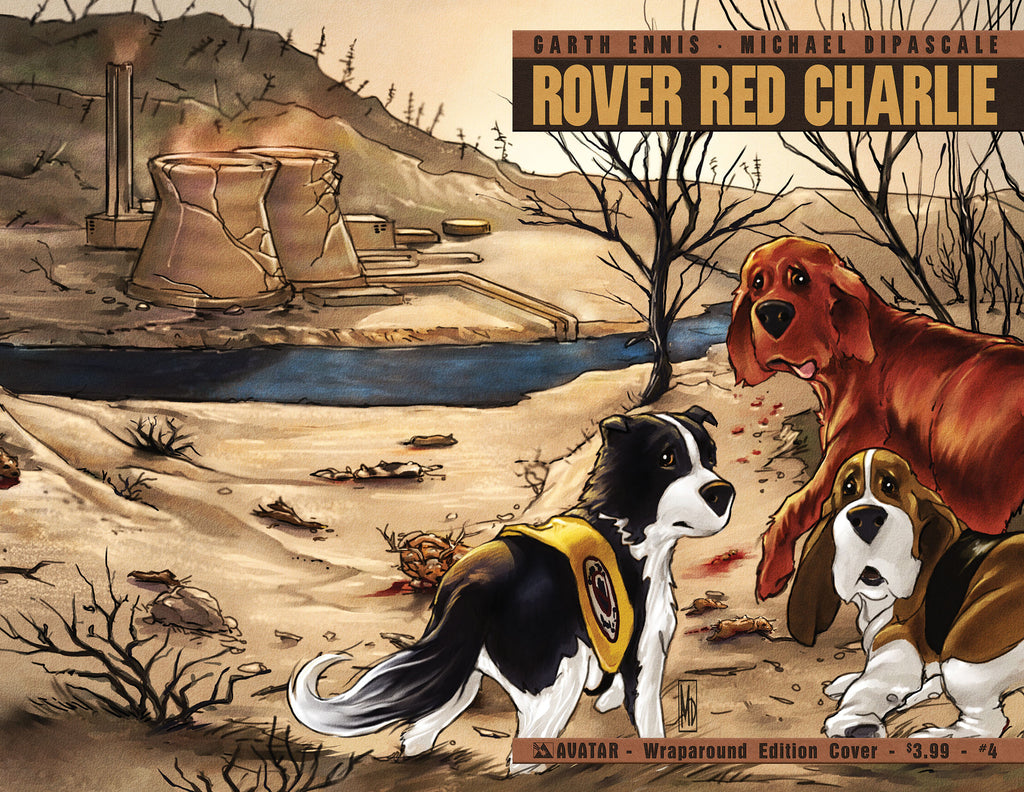 ROVER RED CHARLIE #4 WRAPAROUND COVER