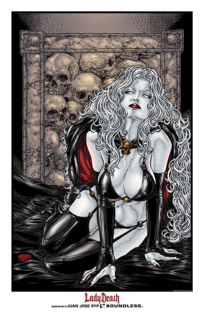Lady Death Art Print #1 San Diego 2010