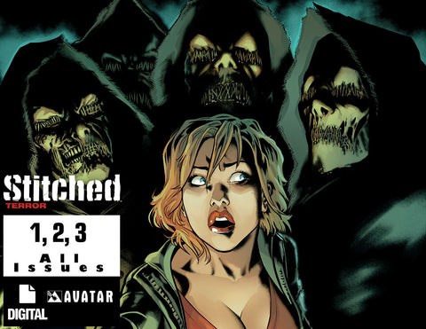 STITCHED: TERROR #1 ,2, 3 - Complete Series Digital copies