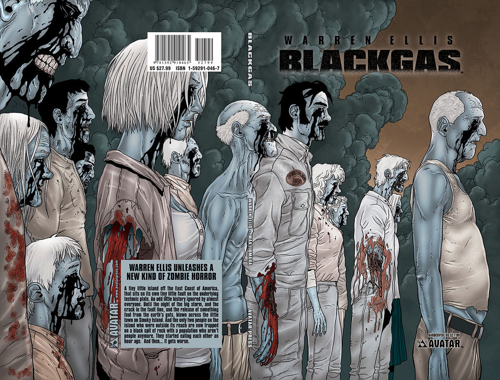 Warren Ellis BLACKGAS Hardcover