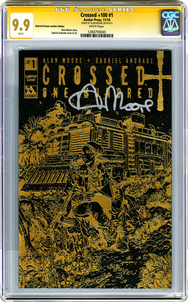 CROSSED +100 #1 CGC - 9.9 -  Signature Series Forest Green Leather