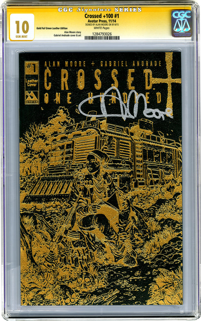 CROSSED +100 #1 CGC - 10.0 -  Signature Series Forest Green Leather