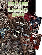 ESCAPE OF THE LIVING DEAD:  Fearbook Green Foil Sticker Set