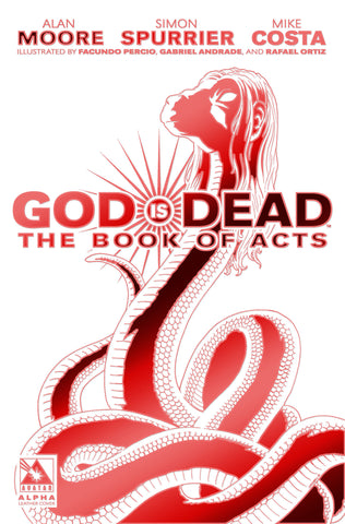 GOD IS DEAD: The Book of Acts #Alpha - Ruby Red White Leather