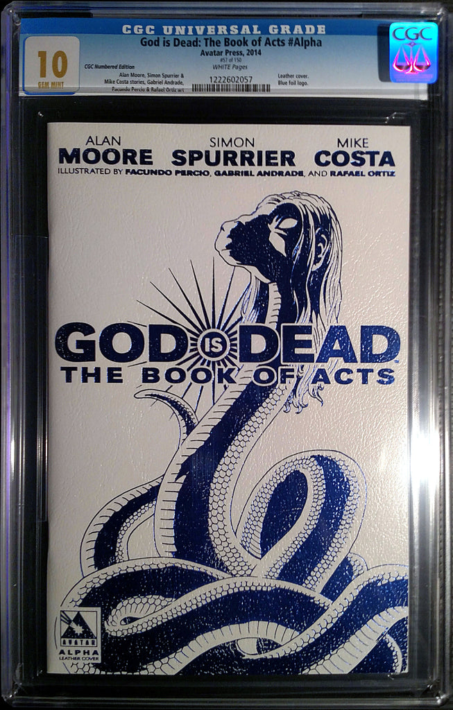 GOD IS DEAD: The Book of Acts #Alpha Leather CGC 10.0 - Numbered Edition
