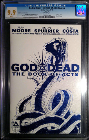 GOD IS DEAD: The Book of Acts #Alpha Leather CGC 9.9 - Numbered Edition