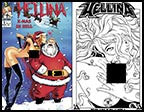 Hellina X-Mas in Hell #1 Nude A 10th Anniversary Print Set