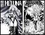 Hellina X-Mas in Hell #1 Platinum 10th Anniversary Print Set