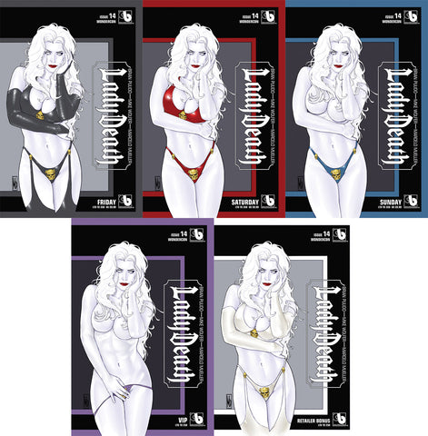 LADY DEATH #14 Wondercon Daily Set