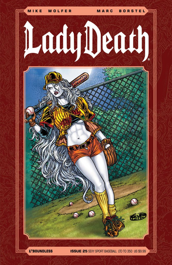 LADY DEATH #25 Sexy Sport Baseball
