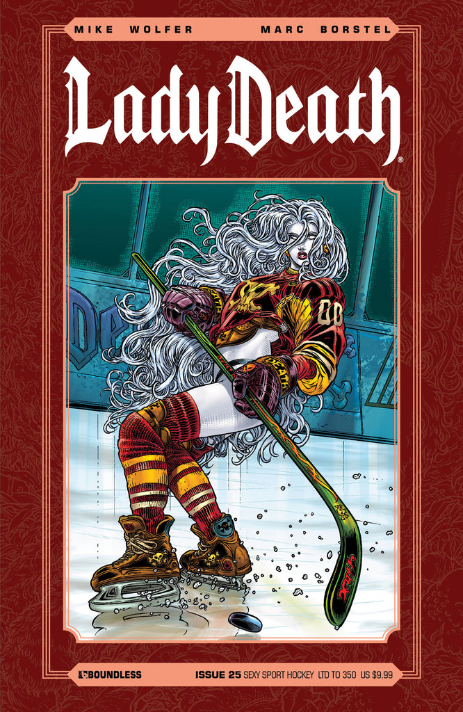 LADY DEATH #25 Sexy Sport Hockey