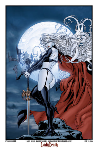 Lady Death: Sinful Art Print SDCC
