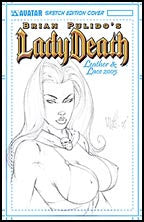 LADY DEATH 2005 Leather and Lace Martin Sketched
