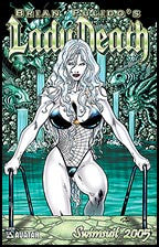 LADY DEATH Swimsuit 2005 Emerald Green Foil