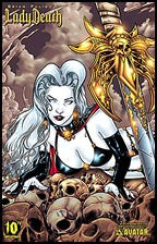 LADY DEATH 10th Ann #1 Queen of the Dead Litho