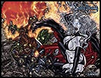 LADY DEATH: Blacklands #4 Wraparound