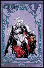 LADY DEATH Death Goddess Art Nouv. by Ortiz Litho
