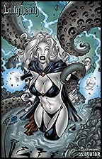 LADY DEATH Death Goddess Commemorative by Rafa Lopez Lithograph