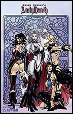 LADY DEATH Lost Souls #1 by Richard Ortiz Lithograph