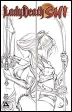 LADY DEATH / SHI Preview Tucci Pencil Art Convention Edition