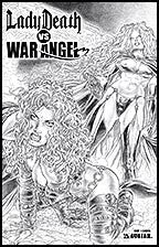 LADY DEATH vs. WAR ANGEL #1 Canvas cover