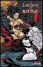 LADY DEATH vs. WAR ANGEL #1 Blood Red Foil
