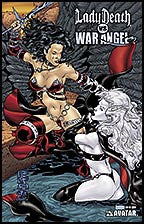 LADY DEATH vs WAR ANGEL #1 Prism Foil