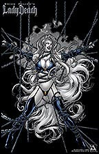 LADY DEATH Wicked #1/2 Bondage by Richard Ortiz Lithograph