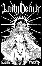 LADY DEATH: The Wicked #1/2 White Leather