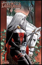 MEDIEVAL LADY DEATH #1 Portrait by Paulo Siqueira Litho