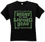 NIGHT OF THE LIVING DEAD 40th Anniversary logo T-Shirt -- Size Medium