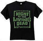 NIGHT OF THE LIVING DEAD 40th Anniversary logo T-Shirt -- Size Large